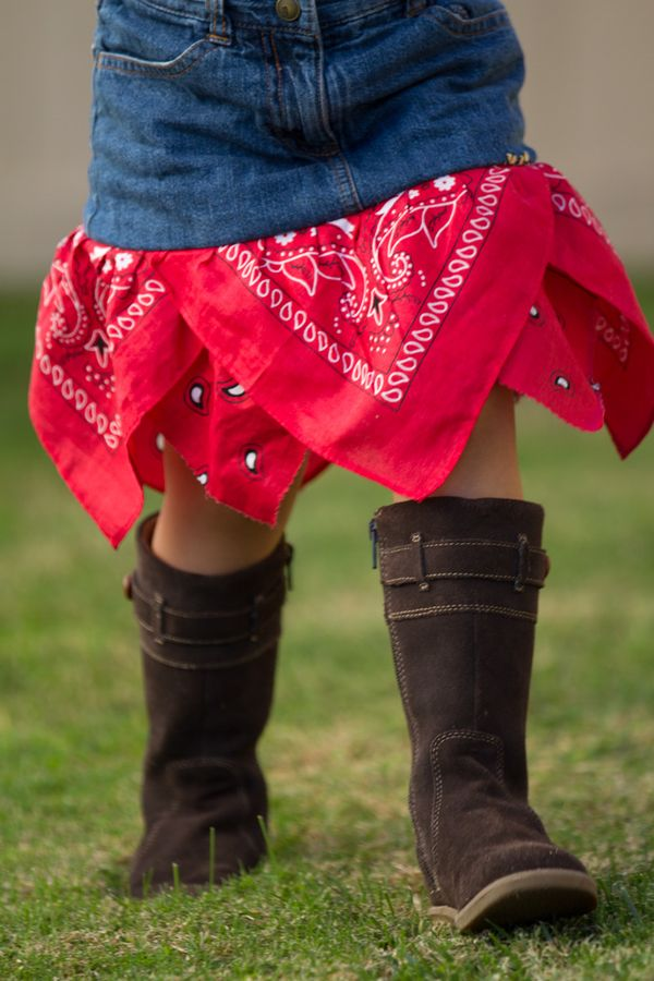 "Make a bandana skirt + 19 other ways to save ""too small"" clothes"