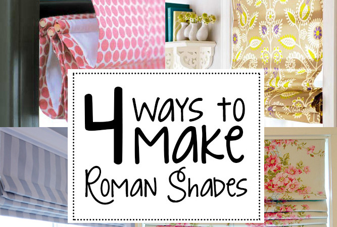 4 ways to make roman shades