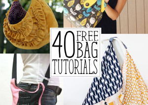 40 amazing free bag tutorials! Handbags & tote bags you'll love to make!