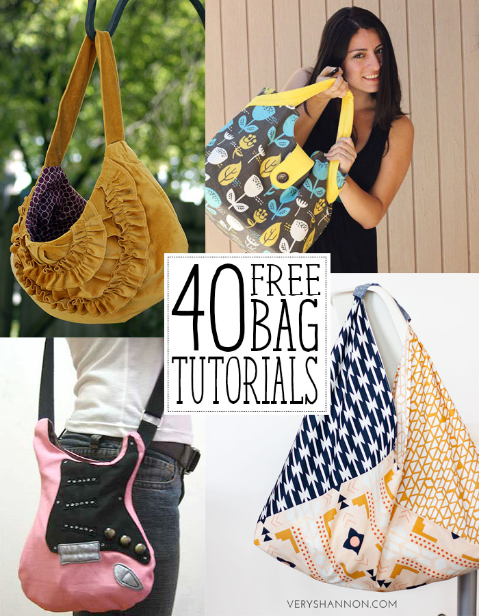 40 Amazing Bag Tutorials You Ll Love