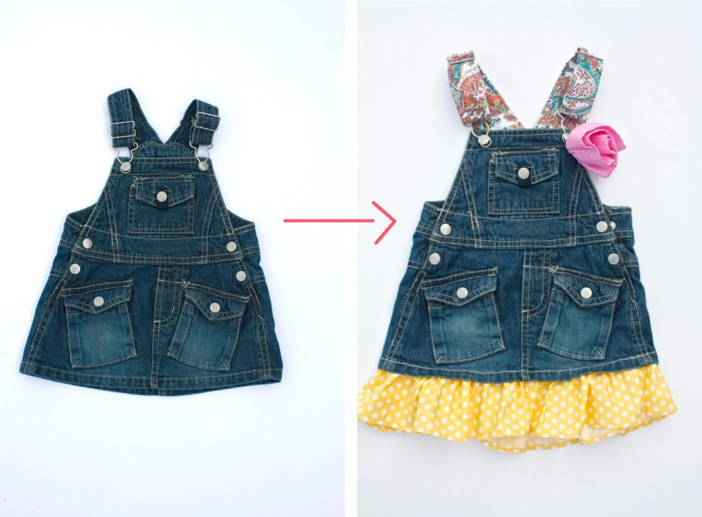 Make a romper longer! Lots of great tips to make kids clothes last longer!