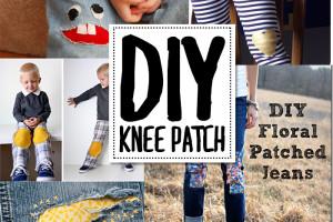 DIY knee patch ideas