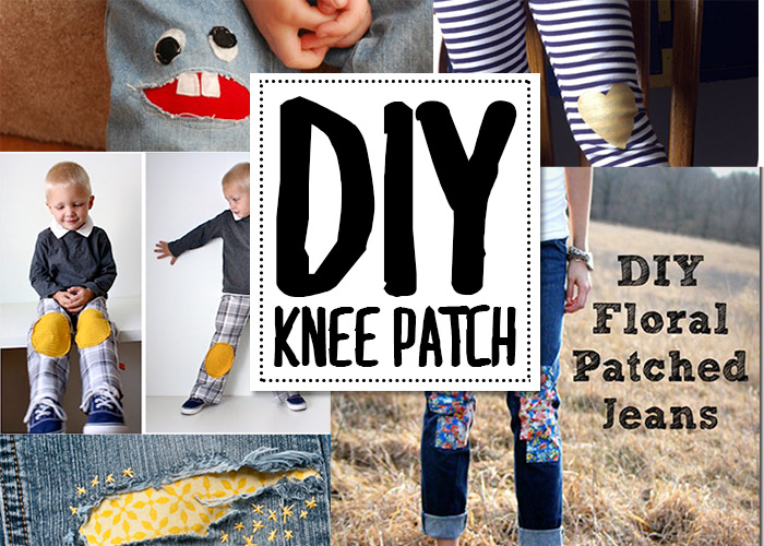 DIY knee patch ideas