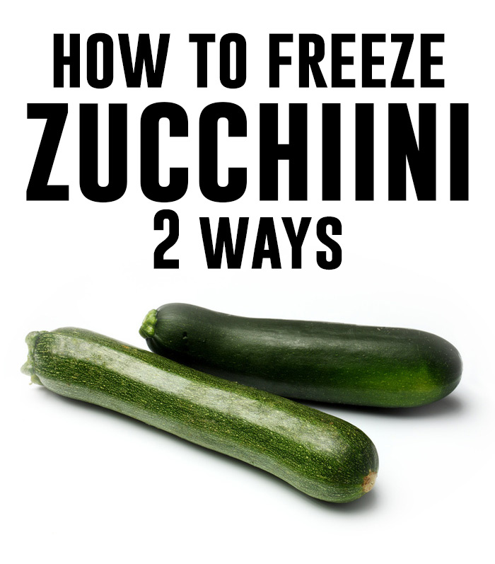 How to freeze zucchini - AndreasNotebook.com