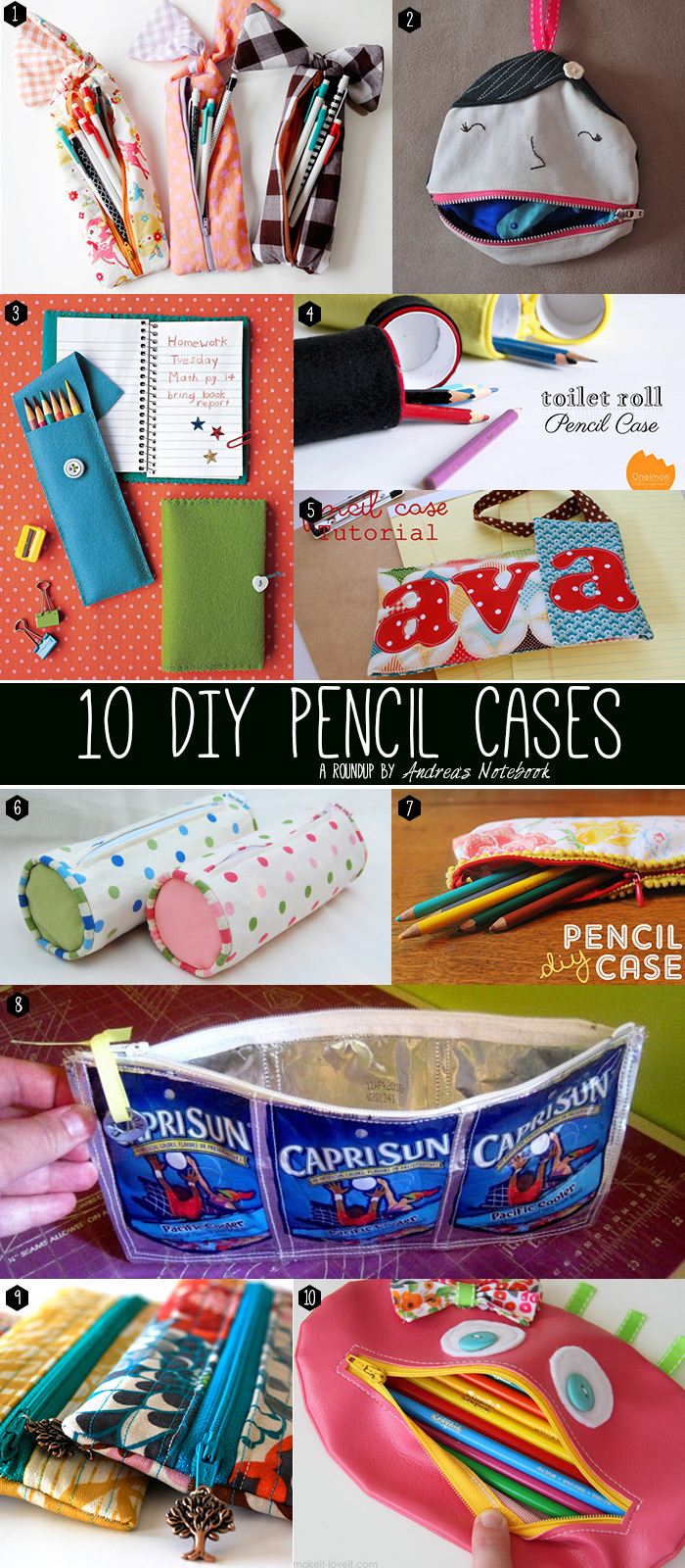 20 DIY pencil cases you can make!