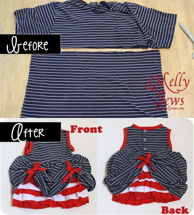 turn a t-shirt into an adorable dress!