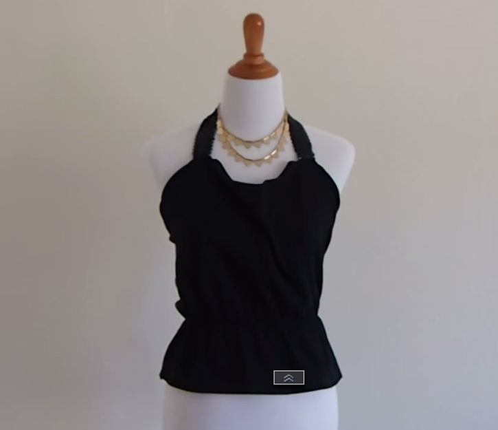 t-shirt to halter tutorial