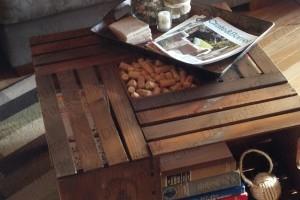 DIY crate coffee table tutorial by DIY Vintage Chic.