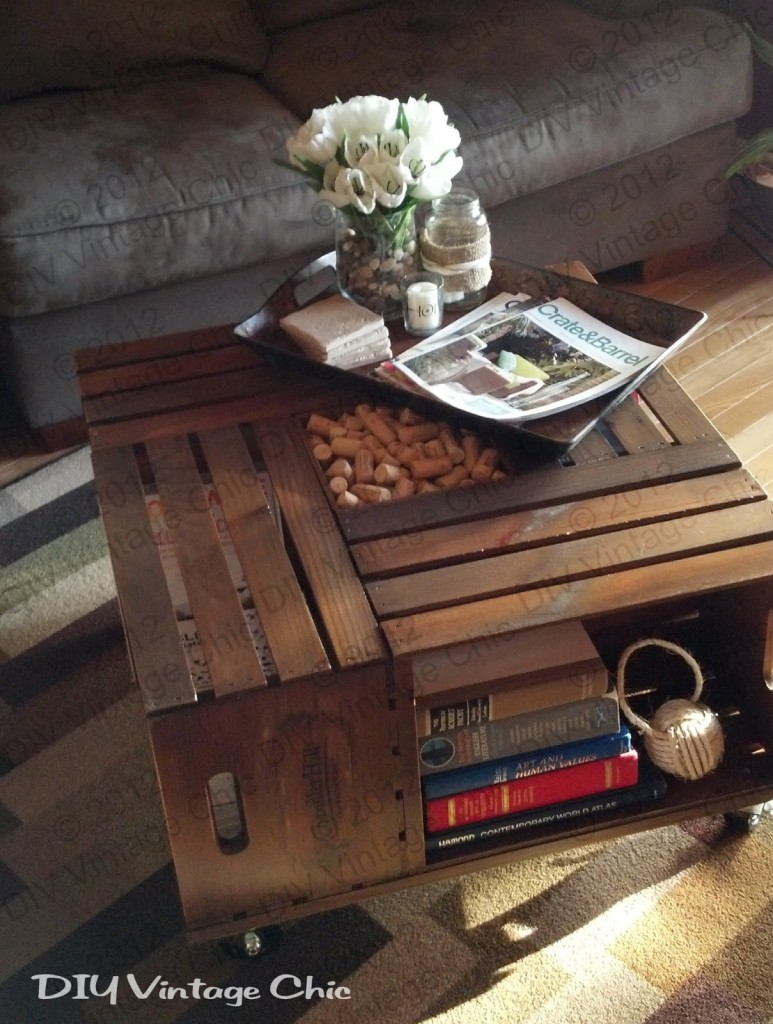 Diy crate coffee table andreas notebook diy crate coffee table tutorial by diy vintage chic geotapseo Images