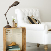 Fantastic! Turn a crate into a side table!