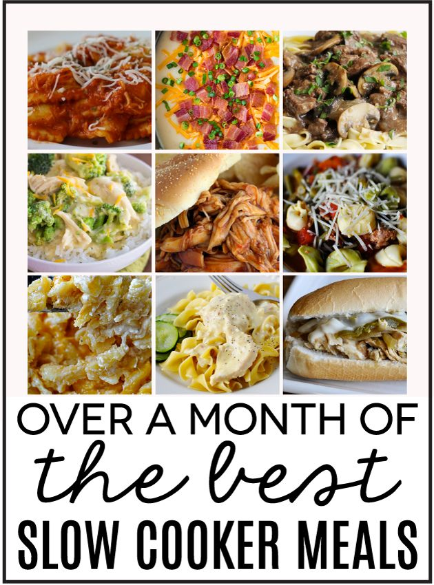 30 days of slow cooker meals! Thanks 30 Days Handmade!