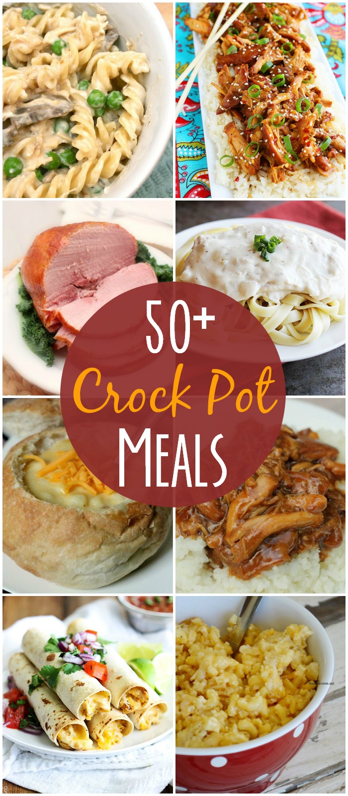 50+ crock pot meals by Lil' Luna