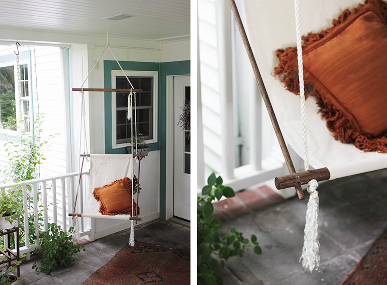 DIY hanging chair tutorial by Merry Though