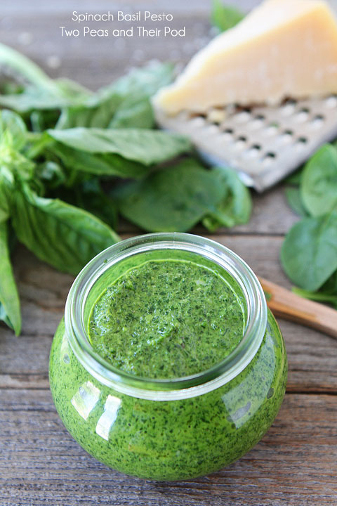 Make your own spinach basil pesto.