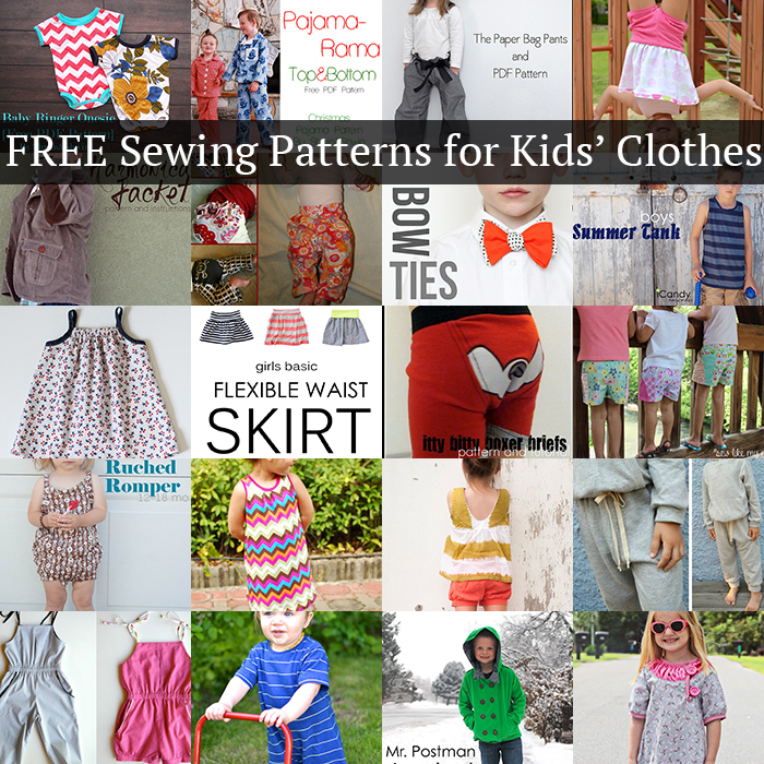 20 FREE sewing patterns for kids' clothes! -AndreasNotebook.com