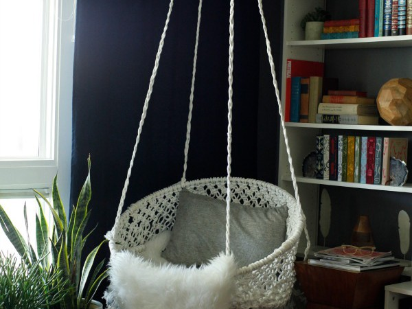 Hanging Macrame Chair by Classy Clutter