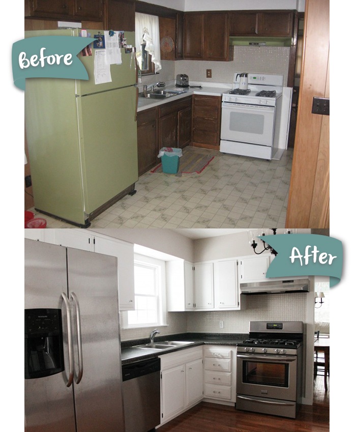 DIY kitchen remodel done over several years. See the progress pics! This is definitely do-able on a budget!
