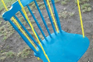 Make a hanging wooden chair