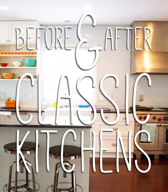 Great before & after photos of classic kitchen makeovers!