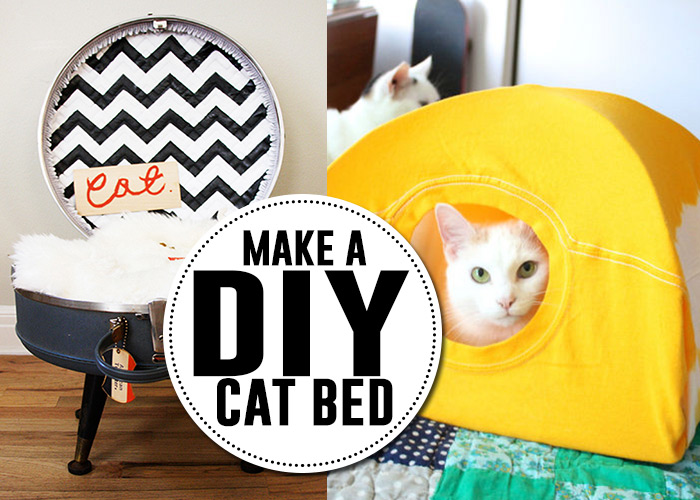 Lots of great DIY cat bed tutorials!