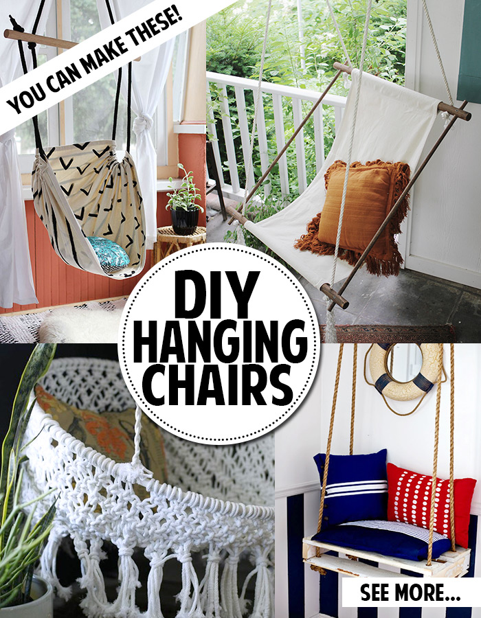 You can make a hanging chair andrea 39 s notebook for Diy macrame baby swing