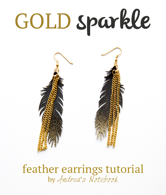 feather earrings tutorial by AndreasNotebook.com