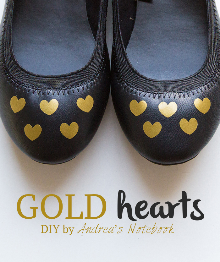 Easy DIY gold heart decals - AndreasNotebook.com