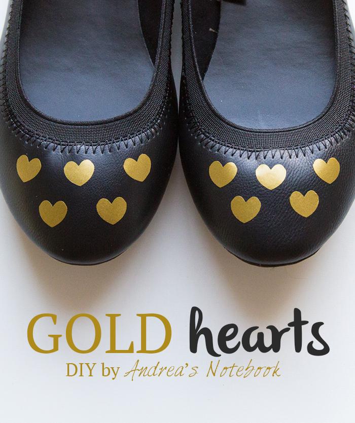 Easy DIY gold heart decals - AndreasNotebook.com