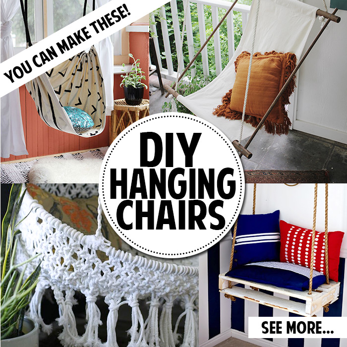 You can make a hanging chair! So gerat!