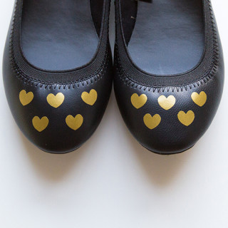 Heart shoe vinyl decals