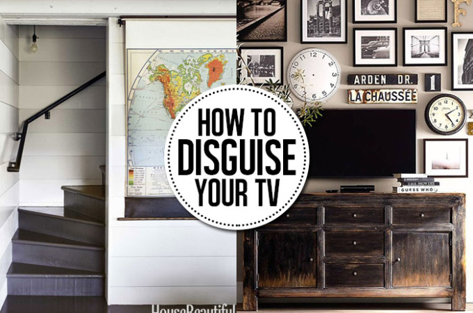 How to disguise and hide your tv