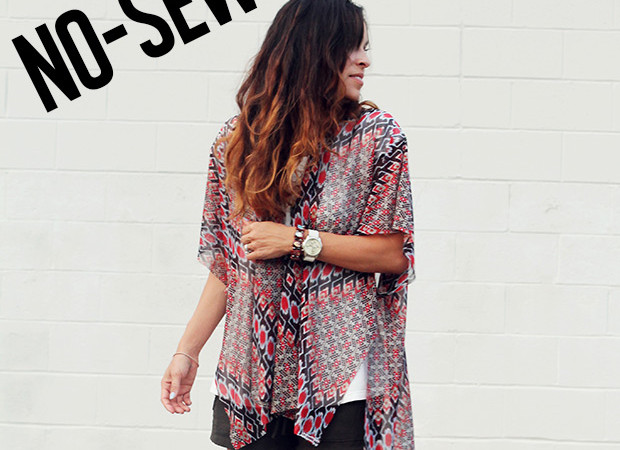 Simple No-Sew kimono tutorial by Verily Mag