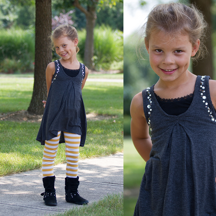 Great refashioned outfit from women's clothes!
