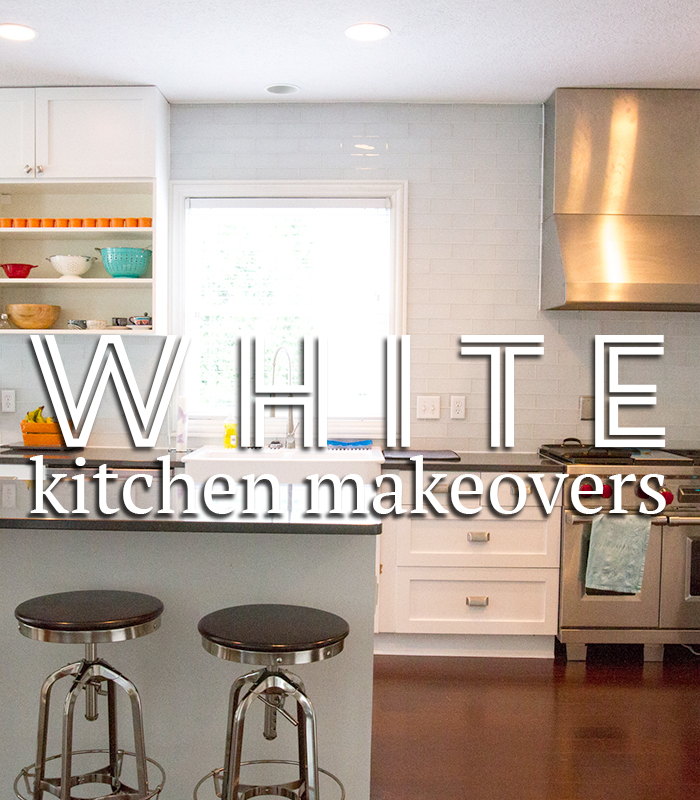Gorgeous white kitchen makeovers! Before & After photos.