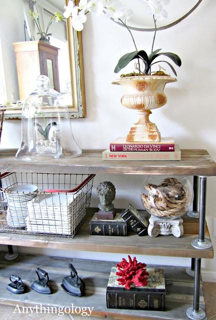 DIY industrial rustic shelves! tutorial.