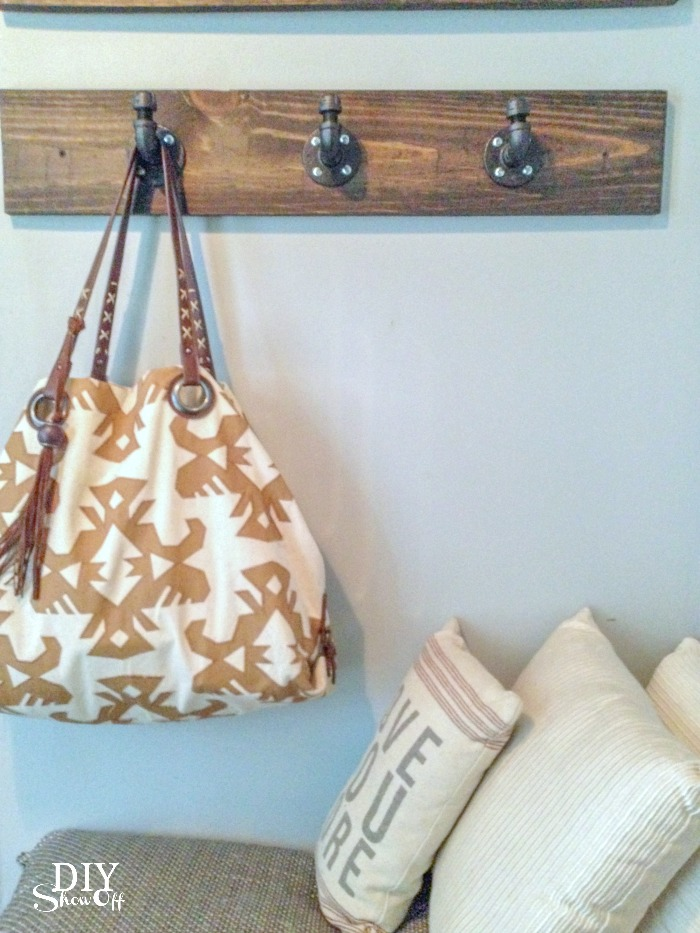 rustic industrial coat rack! Plus other great rustic industrial tutorials.