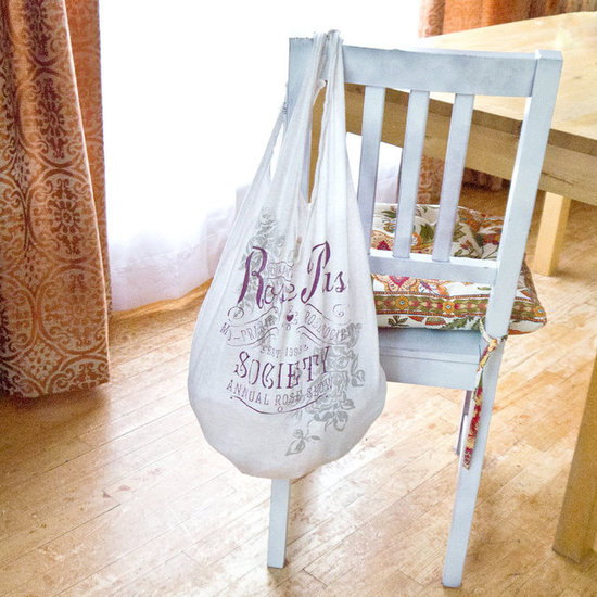 Turn a t-shirt into a grocery bag!