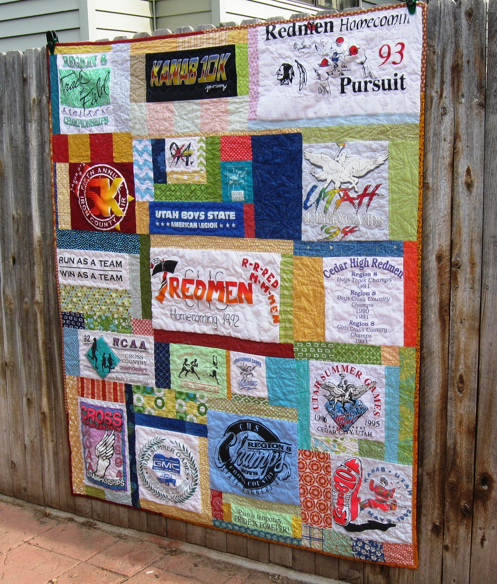 10 ways to repurpose a t shirt andrea 39 s notebook for How to make t shirt quilts easy