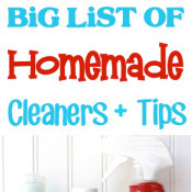 Big list of homemade cleaners