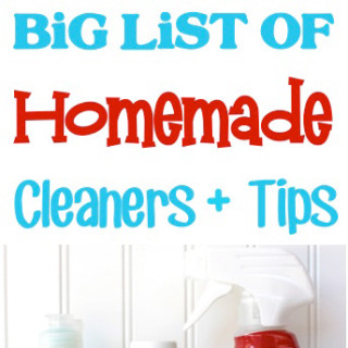 The big list of homemade cleaners