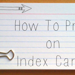 How to Print on Index Cards (with a printer)