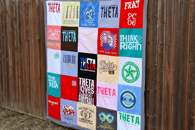 Make an easy t-shirt quilt