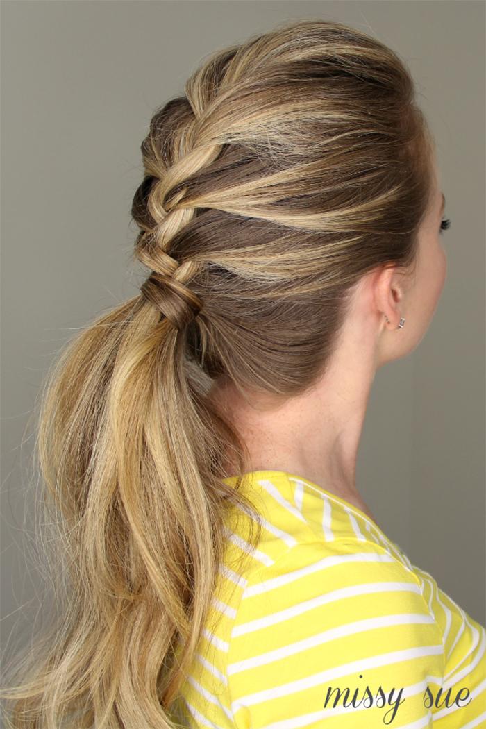 french braid ponytail tutorial