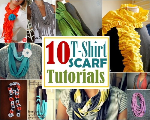 Turn a t-shirt into a scarf!