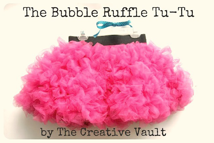 DIY bubble ruffle tutu tutorial