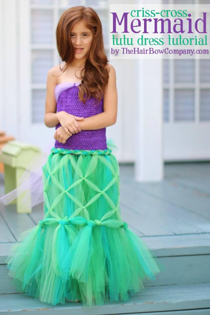 DIY Mermaid tutu costume tutorial
