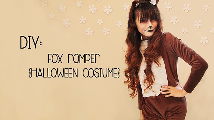 fox romper tutorial