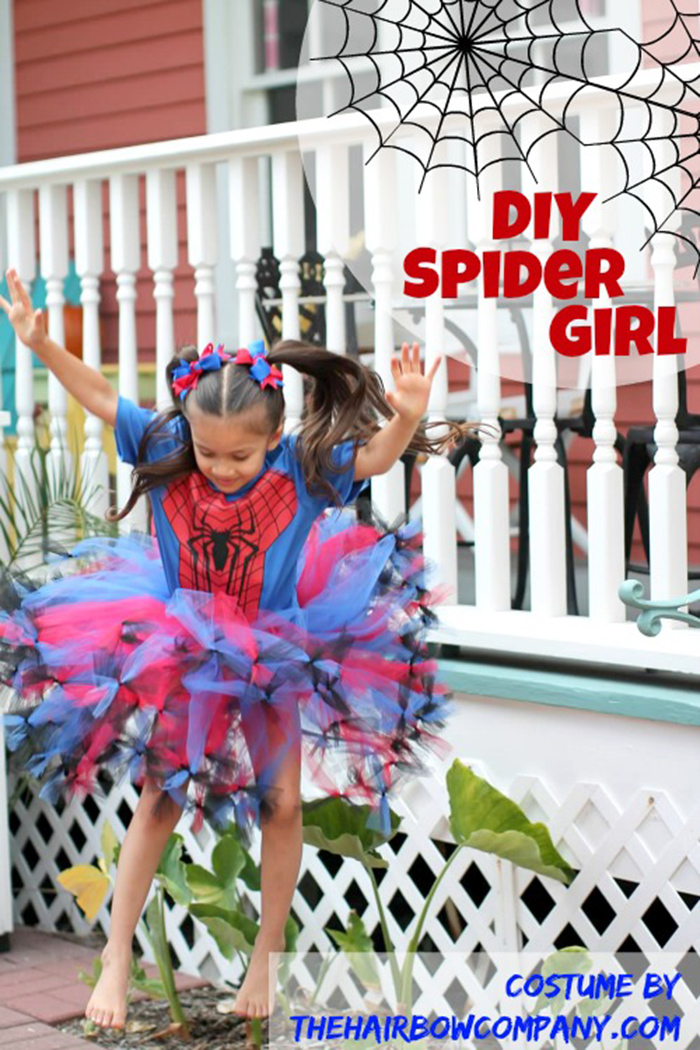 diy spider girl costume