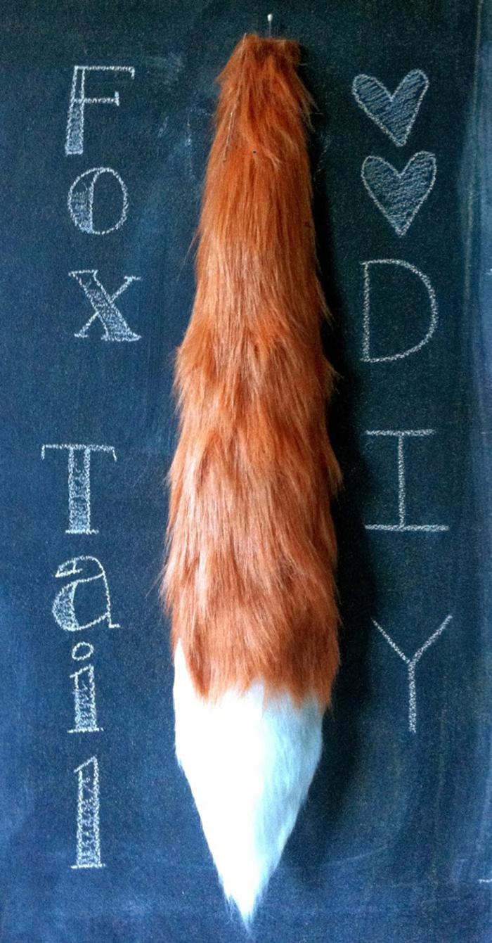 DIY no sew fox tail