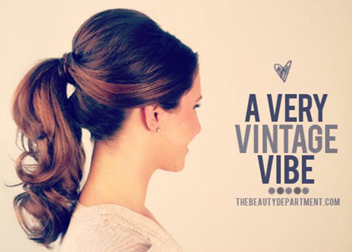 1950's inspired ponytail tutorial